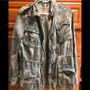 Free People Camo Jacket size M